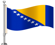Bosnia and Herzegovina Flag PNG Clip Art