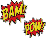 bam pow cartoon message text