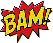 batman bam text message clipart