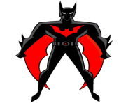 clip art batman red and black