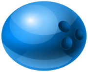 Blue Bowling Ball PNG Clipart