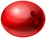 Red Bowling Ball PNG Clipart