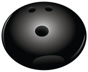 Black Bowling Ball PNG Vector Clipart