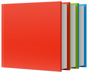 Red Green Blue Books PNG ClipArt