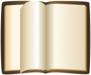 Brown Open Book PNG ClipArt