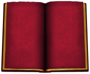 Old Red Open Book PNG ClipArt