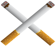 Two Crossed Cigarettes PNG Clipart