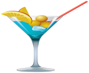 Blue Cocktail PNG Clipart