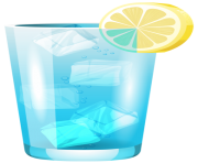 Transparent Blue Cocktail PNG Clipart