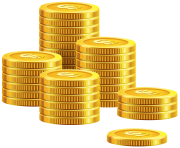 Pile of Coins PNG Clip Art