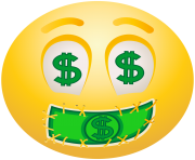Dollar Face emoticon emoji Clipart info