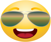 emoticon emoji with Sunglasses Clipart info