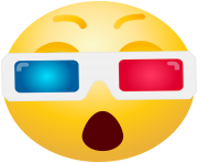 3D Glasses emoticon emoji Clipart info