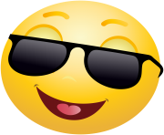 Smiling emoticon emoji with Sunglasses Clipart info