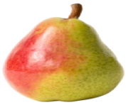 Red and Yellow Pear PNG Clipart