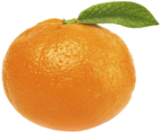 Orange with Leaf PNG Clipart