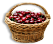 Cherry Basket PNG Clipart