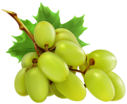 White Grapes PNG Clipart