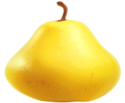 Yellow Pear PNG Clipart