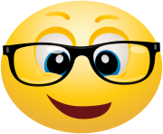 Geek emoticon emoji Clipart info
