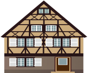 Brown House PNG Clip Art