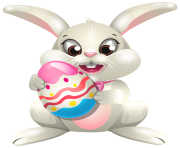 Easter Bunny whit Egg PNG Clip Art