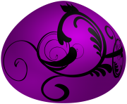 Easter Purple Deco Egg PNG Clip Art