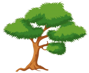 Green Cartoon Tree PNG Clip Art