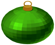 Green Modern Christmas Ball PNG Clipar