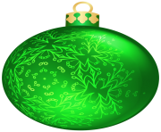Green Christmas Ball PNG Clipar