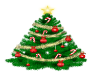 Christmas Tree with Christmas Ornaments and Star PNG Clipar