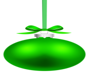 Green Hanging Christmas Ball PNG Clipar