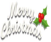 Merry Christmas Decor with Mistletoe PNG Clipar