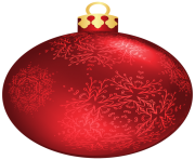 Red Christmas Ball PNG Clipar