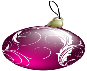 Beautiful Pink Christmas Ball PNG Clipa
