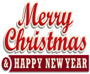 Merry Christmas and Happy New Year PNG Clipar