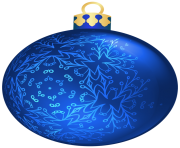 Blue Christmas Ball PNG Clipa