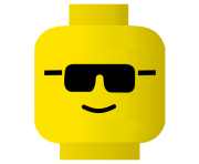 cool glass emoji lego clipart face