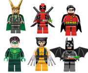 deadpool green lantern robin wolverine batman minifigure lego clipart
