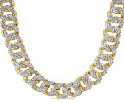 Thug Life Gold Chain PNG HD