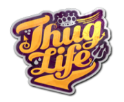Thug Life Sticker PNG transparent