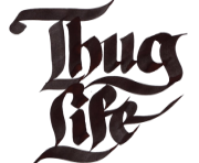 Thug Life Text PNG transparent