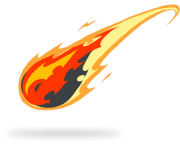 comet tail drawing fire png transparent
