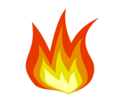 simple cartoon flame png transparent