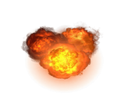 triple explosion png transparent
