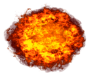 huge fireball explosion png transparent