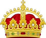 gold and red crown png cartoon with diamonds