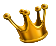 simple golden crown png clipart