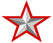 file silver star with red border  wikimedia commons 25