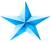 blue sky star 3d png clipart image icon